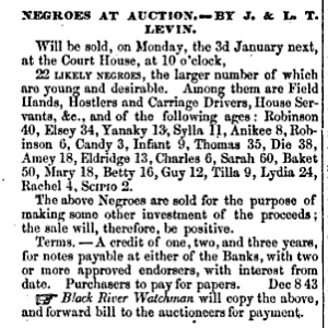 Jacob_Levin_slave_auction_ad