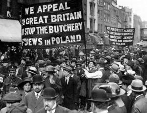 1919 June Brit Jews march vs Polish pogroms